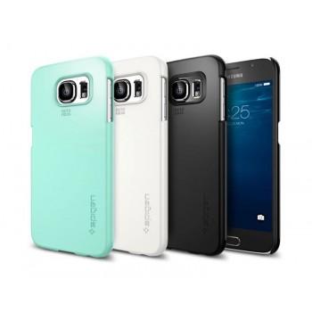 Экстратонкий матовый нескользящий пластиковый премиум чехол для Samsung Galaxy S6