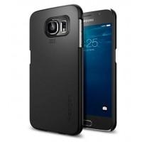 Экстратонкий матовый нескользящий пластиковый премиум чехол для Samsung Galaxy S6 Черный