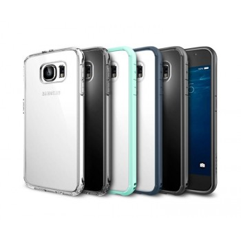 Гибридный двухкомпонентный антиударный премиум чехол экстрим защита с транспарентной крышкой для Samsung Galaxy S6