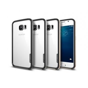Силиконовый двухкомпонентный антиударный премиум бампер экстрим защита для Samsung Galaxy S6