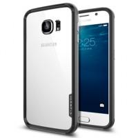 Силиконовый двухкомпонентный антиударный премиум бампер экстрим защита для Samsung Galaxy S6 Черный