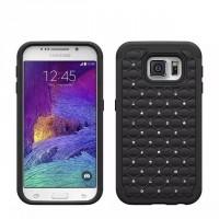 Двухкомпонентный чехол силикон/поликарбонат со стразами для Samsung Galaxy S6