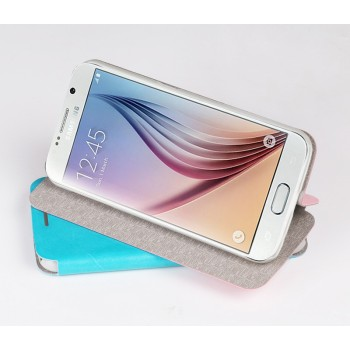 Чехол флип подставка водоотталкивающий для Samsung Galaxy S6