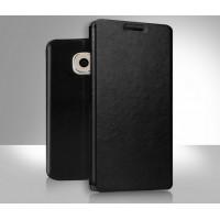 Чехол флип подставка водоотталкивающий для Samsung Galaxy S6 Черный