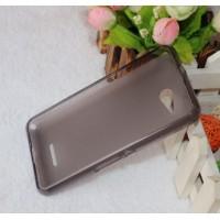 Силиконовый полупрозрачный чехол для Sony Xperia E4g Черный