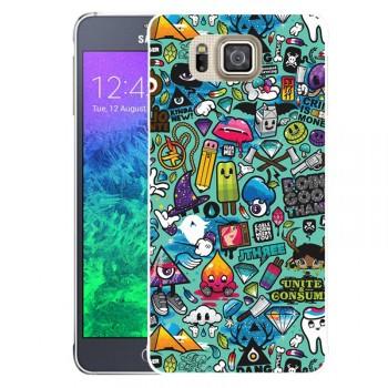 Пластиковый матовый дизайнерский чехол с УФ-принтом для Samsung Galaxy Alpha