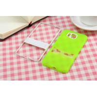 Двухкомпонентный силиконовый чехол с пластиковым бампером-подставкой для Samsung Galaxy Alpha Зеленый
