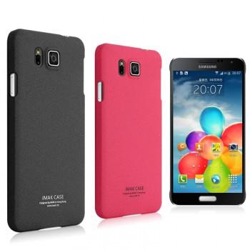 Пластиковый матовый чехол с повышенной шероховатостью для Samsung Galaxy Alpha