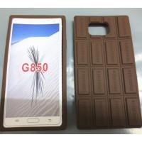 Силиконовый дизайнерский фигурный чехол Шоколадка для Samsung Galaxy Alpha
