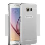 Двухкомпонентный чехол с металлическим бампером и поликарбонатной накладкой для Samsung Galaxy S6