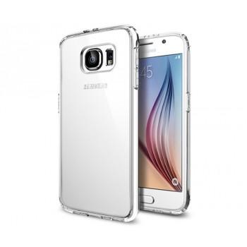 Силиконовый транспарентный чехол повышенной ударостойкости для Samsung Galaxy S6
