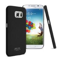 Пластиковый матовый чехол с повышенной шероховатостью для Samsung Galaxy S6 Черный
