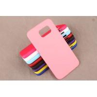 Пластиковый матовый непрозрачный чехол для Samsung Galaxy S6 Розовый