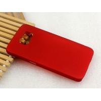 Пластиковый матовый металлик чехол для Samsung Galaxy S6 Красный