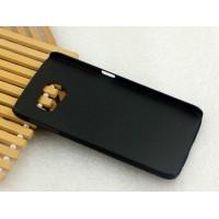 Пластиковый матовый металлик чехол для Samsung Galaxy S6 Черный