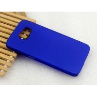 Пластиковый матовый металлик чехол для Samsung Galaxy S6 Синий