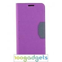 Дизайнерский чехол флип подставка на силиконовой основе для Samsung Galaxy S6 Фиолетовый