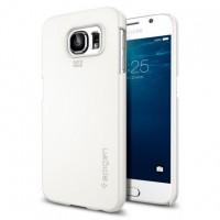Нанотонкий поликарбонатный премиум чехол для Samsung Galaxy S6 Белый