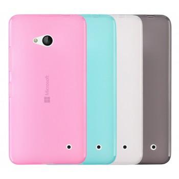 Силиконовый матовый полупрозрачный чехол для Microsoft Lumia 640