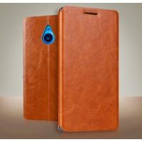 Чехол флип подставка водоотталкивающий для Microsoft Lumia 640 XL Коричневый