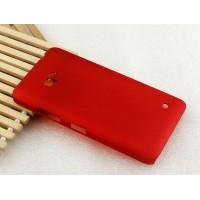 Пластиковый матовый Металлик чехол для Microsoft Lumia 640 Красный