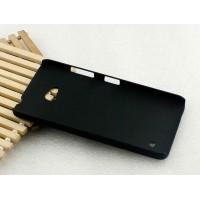 Пластиковый матовый Металлик чехол для Microsoft Lumia 640 Черный