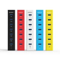 Хаб USB 3.0 OTG для подключения 7-и периферийных USB устройств для Lenovo Moto G4 (Plus)