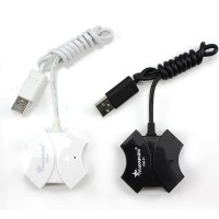 Хаб USB 2.0 OTG для подключения 4-х периферийных USB устройств для Sony Xperia M4 Aqua (E2306, E2353, E2363, E2333, E2312, dual, E2303)