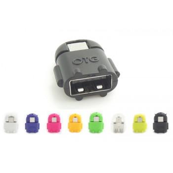 Нанопереходник MicroUSB-USB OTG дизайн Андроид для подключения периферийных USB устройств
