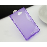 Силиконовый S чехол для Nokia Asha 502 Фиолетовый