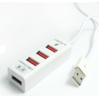 Хаб USB 2.0 OTG для подключения 3-х периферийных USB устройств с портом для зарядки для Alcatel One Touch Idol Alpha (6032d, 6032x)