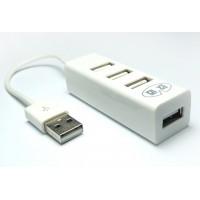Хаб USB 2.0 OTG для подключения 3-х периферийных USB устройств для ZTE Blade L5 (Plus)