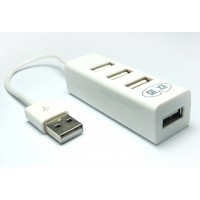 Хаб USB 2.0 OTG для подключения 3-х периферийных USB устройств для Alcatel One Touch Pixi 4 (4) (4034D)