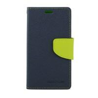 Дизайнерский чехол портмоне подставка с магнитной защелкой на силиконовой основе для Nokia Lumia 630/635 Синий