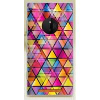 Пластиковый матовый дизайнерский чехол с объемно-рельефным УФ-принтом для Nokia Lumia 830