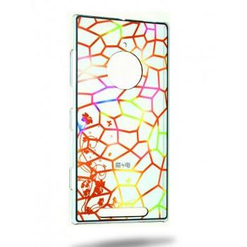 Пластиковый матовый дизайнерский чехол с УФ-принтом Витраж для Nokia Lumia 830