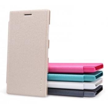 Текстурный чехол флип на пластиковой нескользящей основе для Nokia Lumia 830
