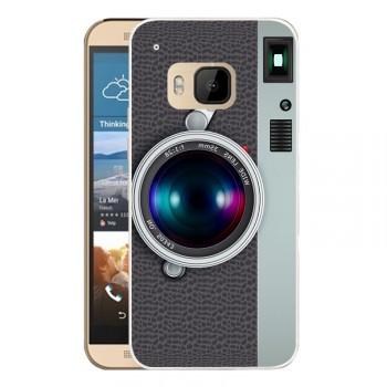 Пластиковый матовый дизайнерский чехол с объемно-рельефным УФ-принтом для HTC One M9