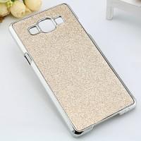 Пластиковый чехол со светоотражающим покрытием повышенной шероховатости для Samsung Galaxy A5 Бежевый