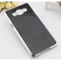 Пластиковый чехол со светоотражающим покрытием повышенной шероховатости для Samsung Galaxy A5 Черный