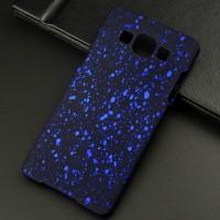Пластиковый матовый дизайнерский чехол с голографическим принтом Звезды для Samsung Galaxy A5 Синий