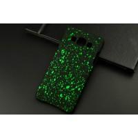 Пластиковый матовый дизайнерский чехол с голографическим принтом Звезды для Samsung Galaxy A5 Зеленый