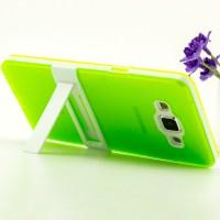 Двухкомпонентный силиконовый чехол с пластиковым каркасом-подставкой для Samsung Galaxy A5 Зеленый