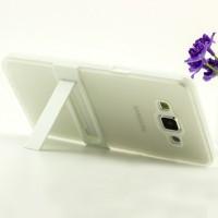 Двухкомпонентный силиконовый чехол с пластиковым каркасом-подставкой для Samsung Galaxy A5 Белый