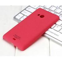 Пластиковый матовый чехол с повышенной шероховатостью для Microsoft Lumia 535 Пурпурный