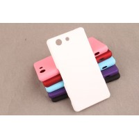 Пластиковый матовый непрозрачный чехол для Sony Xperia Z3 Compact Белый