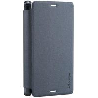 Чехол флип на пластиковой нескользящей основе для Sony Xperia Z3 Compact (d5803) Черный