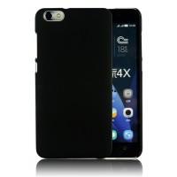 Пластиковый матовый непрозрачный чехол для Huawei Honor 4X Черный