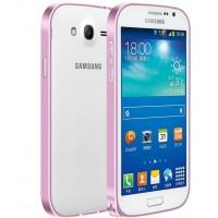 Металлический бампер для Samsung Galaxy Grand / Neo Розовый