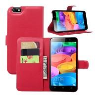 Чехол портмоне подставка с защелкой для Huawei Honor 4X Красный